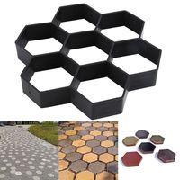 DIY pavimentação molde jardim edifícios decoração ferramentas reutilizável cimento tijolo concreto trajeto fabricante pátio pavimento pavimento de pedra moldes