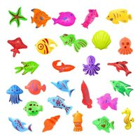 Children's magnetic toy set summer puzzle fishing and water baby indoor bathtub toys