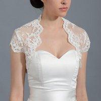Wraps & Jackets Bridal Ivory Cap Sleeve Lace Wedding Jacket Bolero For Dresses Applique