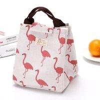 Большой размер холст ручная сумка фламинго белый медведь мульти животное дизайн дизайн ланда сумки ручка MAMAS пакет 3 9by l2
