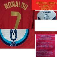 Colecionável 2021 Correspondente Jogador desgastado Ronaldo João Felix Bernardo Jota Impressão Personalizado Qualquer nome Número de Futebol Patch Badge