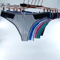 Femme Cotton G-string 10pcs lot Woman Underwear Ladies Sexy Panties Cute G String Girls Bikini T-back Lingerie For Women Thongs Women's