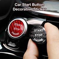 Carro vermelho adesivo início botão de botão de parada para 1 2 3 4 5 6 7 x3 x4 x5 x6 Interior automotivo Outros acessórios