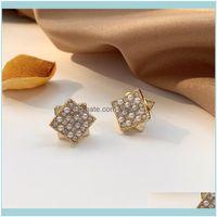 Jewelrysouth Korea Geometric Square Fashion Small Ear Stud Temperament Simple Non-Mainstream Earrings Female1 Drop Delivery 2021 F0Fn9