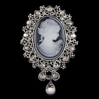 Pins, broches senhora vintage cameo estilo victorian festa de casamento mulheres broche pin 875b