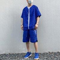 Men's Casual Shirts Harajuku Silk Cashew Print Side Zipper Shirt V Neck Oversize Hip Hop Summer Loose Streetwear Couple