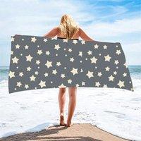 Towel Starry Sky Ash Beach Bath Quick-drying Printed Swimming Soft Microfiber Drop