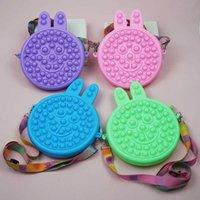 Fidget Toys Sensory Makeup Coin Purse Rabbit Bags Push Bubble Poppers Crossbag Bags Rainbow Anti Stress Children Decompression Toy Handbags G94WMTC