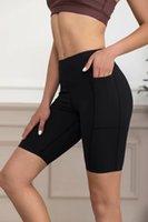 Number L3011 # 66 Hafif Tahtalı Egzersiz, Sıkı Fitness, Kadın Yoga 5 '7 Puan Şort, Pantolon Son Giyim 20, 21, 22 Kaliteli Ürünler