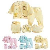 Clothing Sets 5pcs For Girls Born Infant Baby Boys Cartoon Tops+hat+pants +bib Outfits Sleepwear Set Pajamas Children