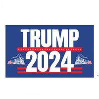 Trump Zug Flagge 90 * 150cm Trumpf Flaggen US-Präsidentschaftswahlen Trump Banner-Flaggen 2024 3 * 5ft owf5994