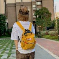 Охотник Маленький рюкзак Британский модный бренд Net Красный Досуг Студенческая Ученая Ученая Мода Света Мини Рюкзак Schoolbag