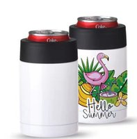 DIY Сублимационные бутылки водные бутылки с водой 12oz Can Cooler автомобиль Кофе Холодичное хранение Бак 304 из нержавеющей стали Вакуумная утепленная чашка Seay FWF9265