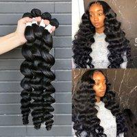 Human Hair Bulks Wigirl Brazilian Remy Weave Bundles 1 3 4 Loose Wave Natural Color 28 30 32 34 40 Inch Wavy Extensions