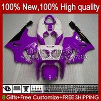 هيئة OEM ل Kawasaki Ninja ZX750 1996 1997 1998 1999 2000 2000 2002 2002 2003 2003 2003 Bodyworks 28hc.86 Purple White New ZX 7 R ZX 750 ZX 7R ZX-750 ZX-7R 96 97 98 99 00 01 02 03 Fairing