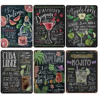 Heure d'été Beer Retro Metal Tin Signes Mojito Cocktail Plaque Vintage Poster Bar Pub Art Stickers Stickers mural 20x30cm Q0723