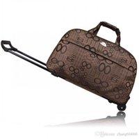 Sac à bagages étanche de marque Sac à bagages d'épaisseur Style Rolling Suitcase Chariot Femmes Sacs de voyage avec roues