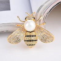 Jewelry Pouches, Bags Bee Brooch Bird Badge Insect Rhinestone Pins Party Banquet Christmas Gifts Accessories For Women Girl Gift
