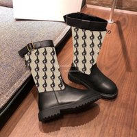 High Quality Kids Girls Boots Winter Fashion Black Leather Knight Children Short Boot Design Casual Shoes