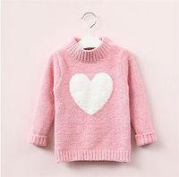Humor Bear 3-7y bebé chicas de punto suéter invierno otoño manga larga cálida media altura collar lindo corazón niños suéter 90 b3