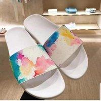 Homens mulheres chinelos designers de moda plana slides flip flops verão loafers ao ar livre sapatos de banho calçados de beachwear com caixa original tamanho grande 36 46