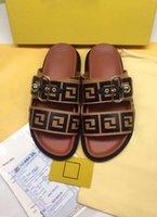 Lüks Ayakkabı Deri Sandalet Rahat Terlik Gevşek Klasik Stil Çiftler Dekore Toka Küçük Top Boyutu35-45
