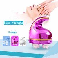Elektrische hoofd massager draadloze hoofdhuid waterdichte massagers gezondheidszorg schouder nek diep weefsel kneden huisdier massage