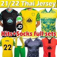 2021 2022 Norwich Pukki City Soccer Jerseys Special Edition ai fan Hugill Hernandez Stiepermann McLean Benendia 21/22 Uomo Kid Kit + calzini Set completo Camicia da calcio