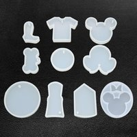 Baking Moulds Shiny Silicone Mini Mouse Headband Shaped Keychain Mold DIY Epoxy Mould Silicon Resin Molds For Keychains YXL409