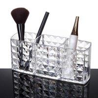 Storage Bottles & Jars Make Up Box Nail Polish Cosmetic 3 Grids Makeup Case Transparent Decor Dresser Tools Brush Holder Organizer H2F5