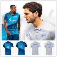 2021 FC Zenit Home Blue Soccer Jersey Dzyuba Azmoun Футбольные рубашки Оздеев Кокорин Сантон Барриос Лалю Футбол Робсон-Кану Мальком