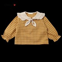 Shirts CNUM Autumn Cotton Girls School Children Blouses Clothing Kids Cute Lace Long Sleeve Blouse For Girl Tops