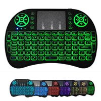 7 Colors Backlit i8 Mini Wireless Keyboard 2.4G Air Mouse Remote Control Touchpad Backlight With Rechargeable Battery For Android TV Box x96 max plus