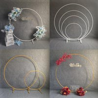 Party Decoration Wedding Arch Backdrop Wrought Iron Ring Flowers Balloon Decorations Birthday Event Flower Golden Stand