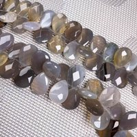 Pedra natural Ágatas Crystal Drop Forma Facetado Malachite Opala solta grânulos para jóias fazendo bracelete de colar de charme diy