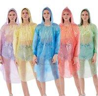 PE Travel Raincoats monouso Ponchoable Poncho Ponchowear Hot Raincoat Moda Moda Cappotto di moda Abbigliamento pioggia SN1342 XHRHTS H9WZH9WZH9WZ