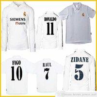 2001 2002 2002 2002 2003 04 05 ريال مدريد المئوية الرئيسية لكرة القدم جيرسي زيدان فيجو هيرو رونالدو راؤول كلاسيك الرجعية لكرة القدم قميص موحدة خمر جيرسي