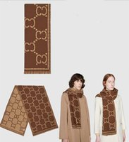 2022 Autunno / Inverno Nuova sciarpa coppia, Designer di lusso Jacquard Double Sided Scialle in lana 100% 180 * 40 cm