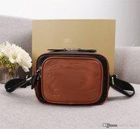 Nueva moda de lujo diseñador mujer bolso cortés bolsas hombro cuero genuino de alta calidad bolsa de asas General Imprimir cámara Bolso 21 cm