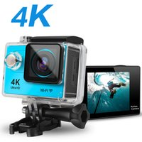 Dropship H9 Action Camera Ultra HD 4K 30fps WiFi 2.0-inch 170D Underwater Waterproof Helmet Video Recording Cameras Cam Without SD card