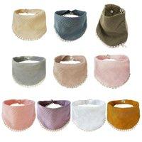 Bibs & Burp Cloths Baby Infants Feeding Soft Pure Cotton Bandana Saliva Towel Toddler Triangle Drool Scarf Born Cloth Shower