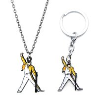 Keychains Queen British Band Freddie Mercury Metal Alloy Pendant For Women Men Bag Cool Keychain Keyring Jewelry Gifts