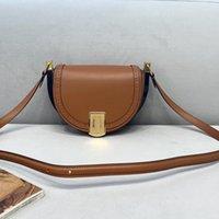 Designer Handbags Saddle Spring Bag Small Half Moon Shoulder Bags Ladies Flap Crossbody Handbag Purse Quaty Genuine Leather Wallet Gold Metal bb XYM
