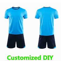 DIY Customized Blank Jersey Schools team Custom Made to order Yourself name number football shirts Men Kits Uniforms 010