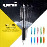 Uni Japón Mitsubishi M5-118 Transparente negro apretón de manos blanco blanco lápiz automático 0.5mm