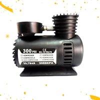 300psi 12 فولت مصغرة سيارة الكهربائية الإطارات نافخة واحدة اسطوانة ضاغط الهواء الإطارات مضخة الضغط العالي (أسود) نفخ