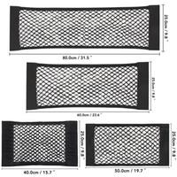شبكة تخزين حقيبة جيب للسيارة الخلفية جذع مقعد الظهر مرونة سلسلة صافي ماجيك ملصق نايلون السيارات المنظم قفص