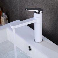 Soğuk Mikser Beyaz Musluklar Siyah Banyo Havzası Lavabo Dokunun Güverte Üstü Gemi Musluk Elk1410s