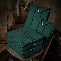 Men's Hoodies & Sweatshirts Moletom com capuz sólido casual verde, outono inverno, algodão, plus, manga longa de caxemira, masculino, feminino, jovens, casais OS47