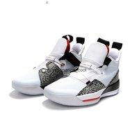 Neue Farbe 33 XXXIII Leopard Drucken Weiß Schwarz Basketball Sportschuhe Herren Sneakers Red Trainer mit Box